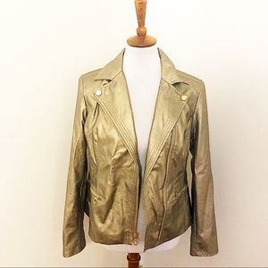 Jones New York metallic Moto jacket 6